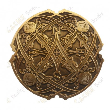 "Geocoin ""Sea Compass"" - Antique Gold"