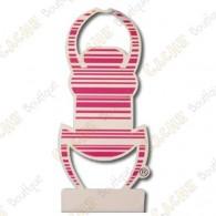 """Car TB sticker 8"""" - Pink"""