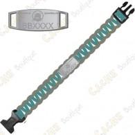 Trackable Paracord Bracelet - Brugse Beer VI - Aqua / Grey - Presale