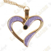 "Geocoin Necklace ""Eternal Love"" - Purple / Gold"