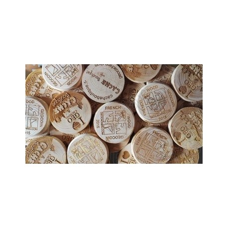 Wood coins personalizados x 100