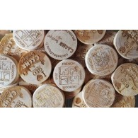 Custom Wood coins x 500