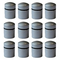 Magnetic Nano Caches x 12 - Grey
