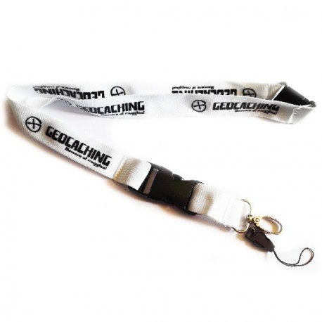 Geocaching lanyard - White