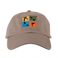 Geocaching color logo cap - Sand