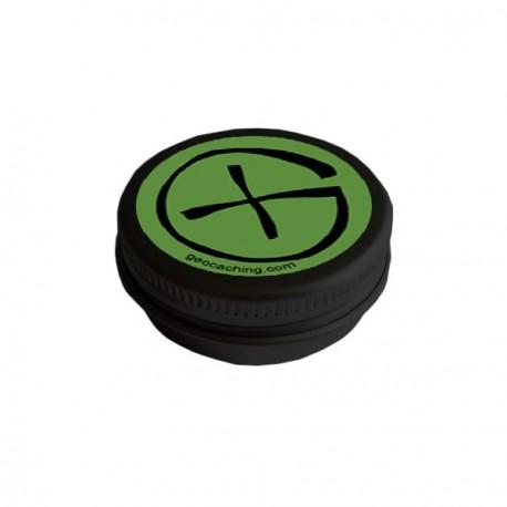 "Cache Black ""Geo-Tin"" - Round 4cm"