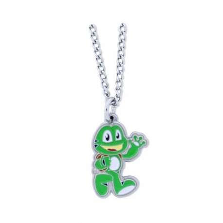 "Geocoin Necklace ""Signal the frog"""