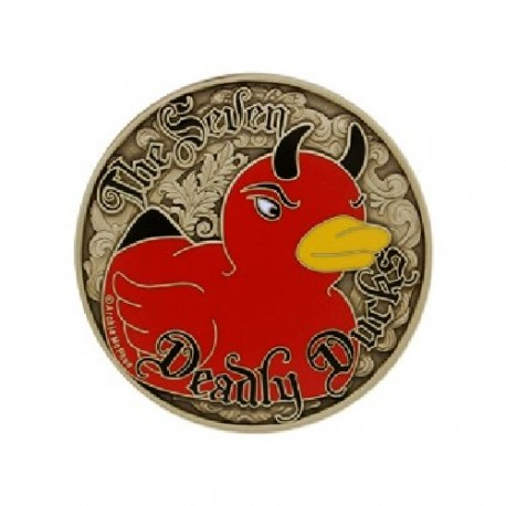 "Geocoin ""The Seven Deadly Ducks"""