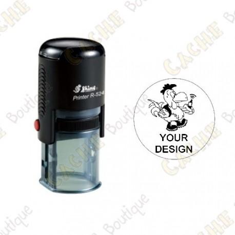 100% custom round stamp - 24mm