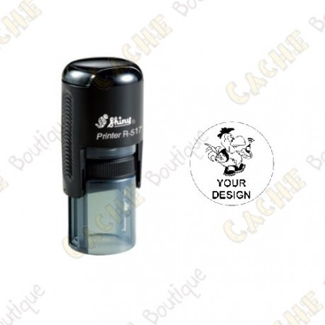 100% custom round stamp - 17mm