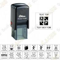 Tampon carré personnalisable - 20mm