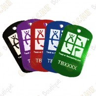 Traveler personalizada - Forma TB con su código trackable