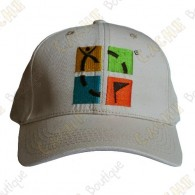 Geocaching cap with color logo - Beige