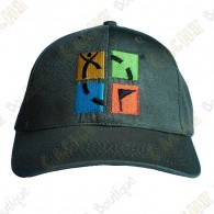 Geocaching cap with color logo - Khaki