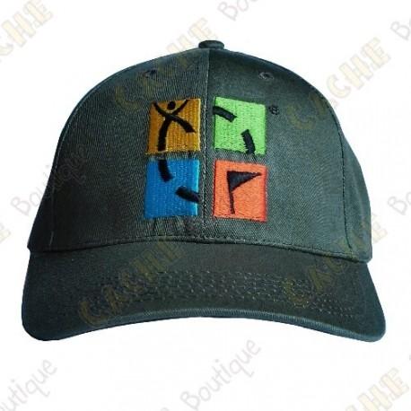 Geocaching cap with color logo - Khaki