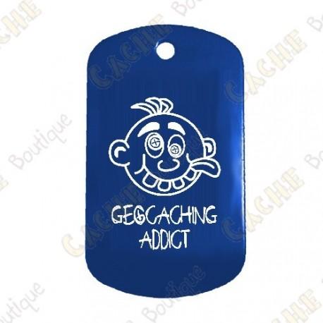 """Traveler """"Geocaching Addict"""" Garçon - Bleu"""