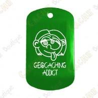 """Traveler """"Geocaching Addict"""" Menina - Verde"""
