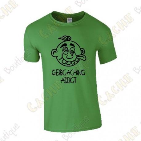 "T-shirt ""Geocaching Addict"" Homem - Preto"