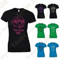 """T-Shirt """"Geocaching Addict"""" pailleté Femme"""