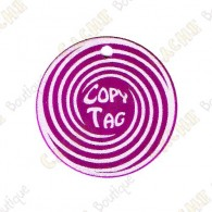Copy Tag - Geocoin/Double tag - Roxo