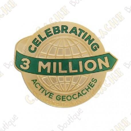 """Geocoin """"3 Million Geocaches"""" - Gold"""