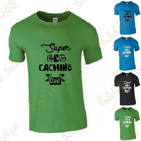"T-shirt ""Super Geocaching Dad"" Homem"
