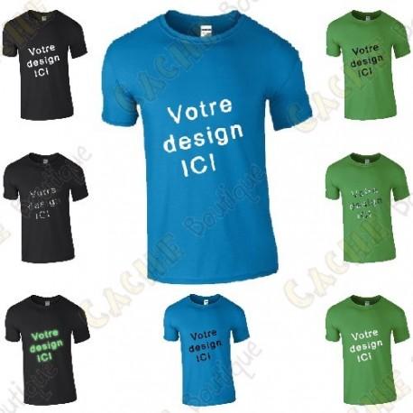 100% customized T-shirt, for Men - Black