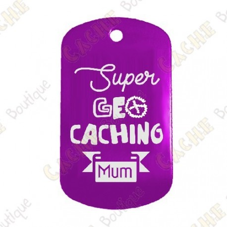 """Traveler """"Super Geocaching Mum"""" - Púrpura"""