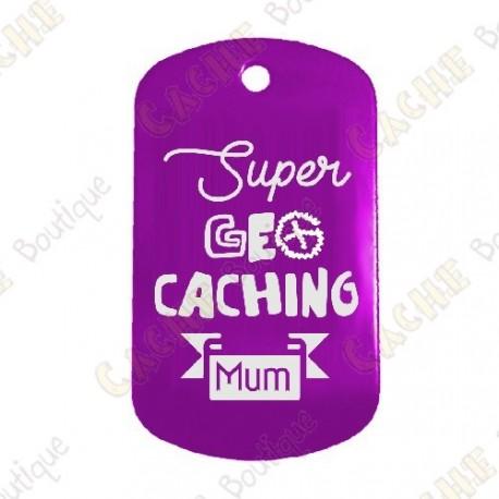 """Traveler """"Super Geocaching Mum"""" - Roxo"""