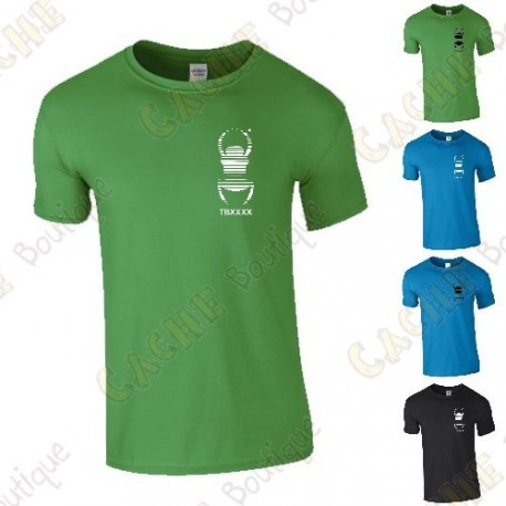 Trackable T-shirt with your Teamname, for Men - Black