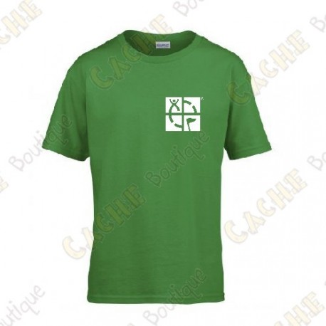 """T-shirt trackable """"Discover me"""" Criança - Preto"""