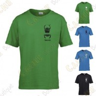 Trackable T-shirt with your Teamname, for Kids - Black