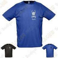 T-shirt técnica trackable com seu Apelido, Homem