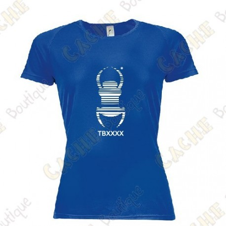 "Trackable ""Travel Bug"" technical T-shirt for Women - Black"