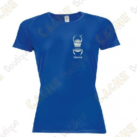 Camiseta técnica trackable con Teamname, Mujer - Negra