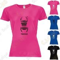 "T-shirt técnica trackable ""Travel Bug"" Mulher"