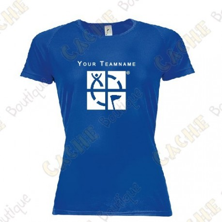 Technical T-shirt with your Teamname, for Women - Black