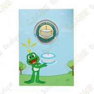 "Carte cadeau et géocoin ""Happy Birthday"""