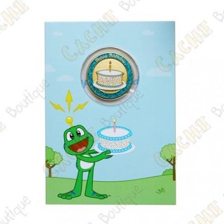 Birthday card with Geocoin