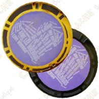 "Geocoin ""I love Wherigo"" - BN + Gold"