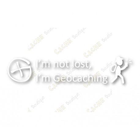 """I'm not lost, I'm Geocaching"" window cling"