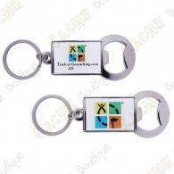 Porte-clés décapsuleur Geocaching Trackable