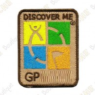 Patch Geocaching trackable - Quadricolor / Bege