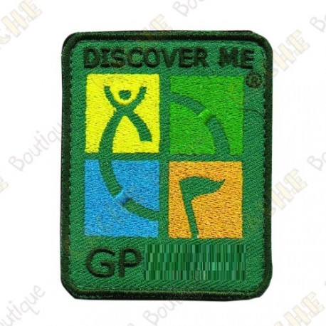Patch Geocaching trackable - Quadricolor / Khaki