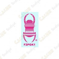 "Car TB sticker 3"" - Pink"