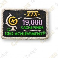 Geo Achievement® 19 000 Finds - Patch