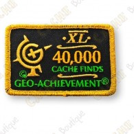 Geo Achievement® 40 000 Finds - Parche
