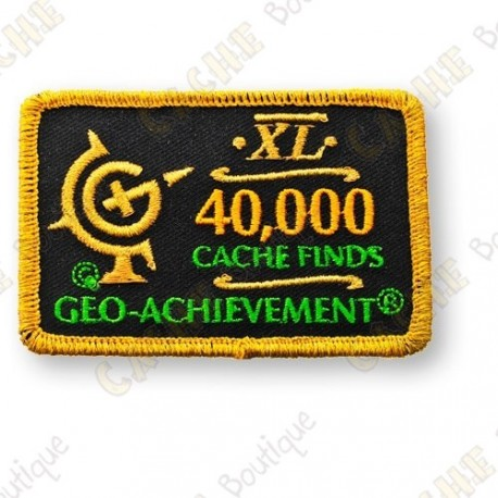 Geo Achievement® 40 000 Finds - Patch