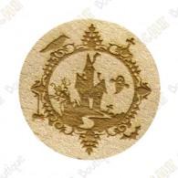Wooden coin - Halloween