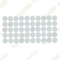 Almohadillas adhesivas reflectantes - Blancas